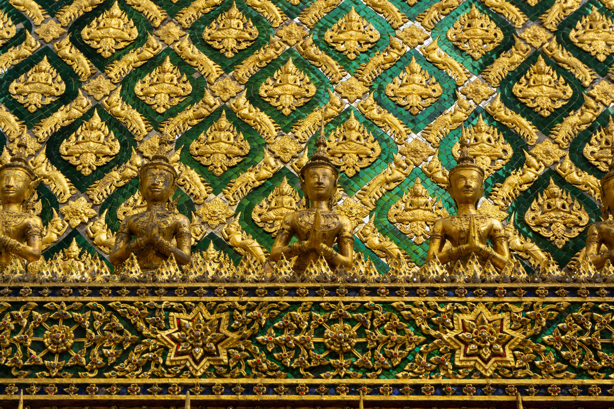 Temple Detail – Green